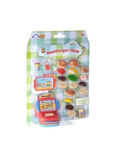 Sunman Sunman 02567 22 ParÇa Hamburger Shop Oyuncak Yiyecek Seti Renkli